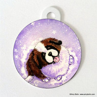 DOUBLE SIDED PET ID TAG · A TASTE OF WINTER  · SAINT BERNARD · AMY BOLIN