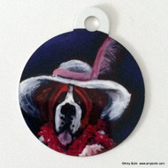 DOUBLE SIDED PET ID TAG · ALL DRESSED UP WITH NOWHERE TO GO  · SAINT BERNARD · AMY BOLIN