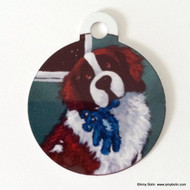 DOUBLE SIDED PET ID TAG · BEDTIME BUDDIES  · SAINT BERNARD · AMY BOLIN
