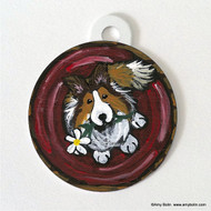 DOUBLE SIDED PET ID TAG · BE MINE · SABLE SHELTIE · AMY BOLIN