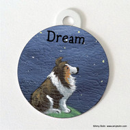 DOUBLE SIDED PET ID TAG · DREAM · SABLE · AMY BOLIN