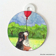 DOUBLE SIDED PET ID TAG · FLY AWAY · BERNESE MOUNTAIN DOG · AMY BOLIN