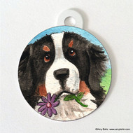 DOUBLE SIDED PET ID TAG · I SAW THIS FLOWER · BERNESE MOUNTAIN DOG · AMY BOLIN
