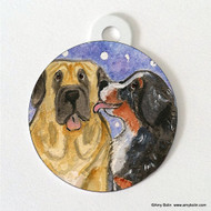 DOUBLE SIDED PET ID TAG · LITTLE KISS · BERNESE MOUNTAIN DOG, MASTIFF · AMY BOLIN