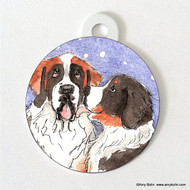 DOUBLE SIDED PET ID TAG · LITTLE KISS · BERNESE MOUNTAIN DOG, SAINT BERNARD · AMY BOLIN