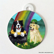 DOUBLE SIDED PET ID TAG · MY POT O GOLD · BERNESE MOUNTAIN DOG, GOLDEN RETRIEVER · AMY BOLIN