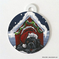 DOUBLE SIDED PET ID TAG · BELIEVE · BLACK  NEWFOUNDLAND · AMY BOLIN
