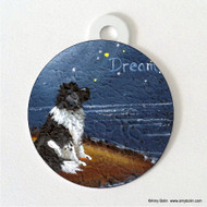 DOUBLE SIDED PET ID TAG · DREAM · LANDSEER  NEWFOUNDLAND · AMY BOLIN