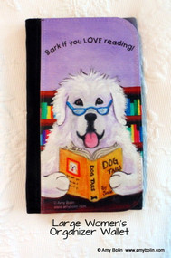 LARGE ORGANIZER WALLET · DOG TAILS VOL 2 · GREAT PYRENEES · AMY BOLIN