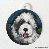 DOUBLE SIDED PET ID TAG · TOBY OES  · OLD ENGLISH SHEEPDOG · AMY BOLIN