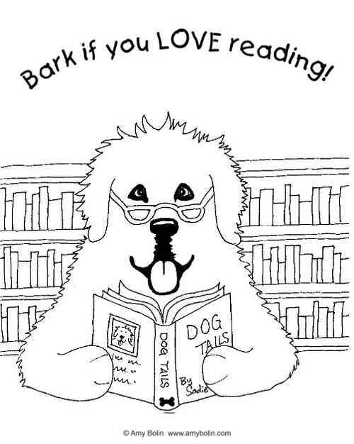 free coloring sheet download dog tails bark if you love reading