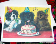 NOTE CARDS · HAPPY BIRTHDAY TO YOU · BLACK, BROWN, LANDSEER  NEWFOUNDLAND · AMY BOLIN