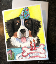 NOTE CARDS · HAPPY BIRTHDAY TO YOU · BERNESE MOUNTAIN DOG · AMY BOLIN