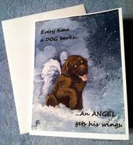 NOTE CARDS · DOG BARKS & ANGEL WINGS · LABRADOR  RETRIEVER · AMY BOLIN