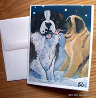 NOTE CARDS · LITTLE KISS · MASTIFF, SAINT BERNARD · AMY BOLIN