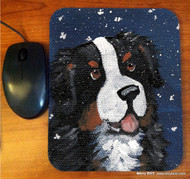 MOUSE PAD · COUNTING SNOWFLAKES · BERNESE MOUNTAIN DOG · AMY BOLIN