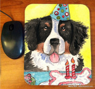 MOUSE PAD · HAPPY BIRTHDAY TO YOU · BERNESE MOUNTAIN DOG · AMY BOLIN