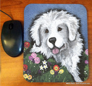 MOUSE PAD · MOM'S FAVORITE FLOWER · GREAT PYRENEES   · AMY BOLIN
