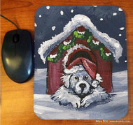 MOUSE PAD · BELIEVE · GREAT PYRENEES · AMY BOLIN