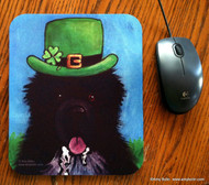 MOUSE PAD · A BIG, WET IRISH KISS · IRISH SPOTTED NEWFOUNDLAND · AMY BOLIN