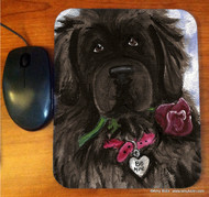 MOUSE PAD · BE MINE · BLACK NEWFOUNDLAND · AMY BOLIN