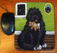 MOUSE PAD · BEDTIME BUDDIES · IRISH SPOTTED NEWFOUNDLAND · AMY BOLIN