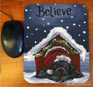 MOUSE PAD · BELIEVE · BLACK NEWFOUNDLAND · AMY BOLIN