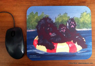MOUSE PAD · DOG DAYS · BLACK NEWFOUNDLAND · AMY BOLIN