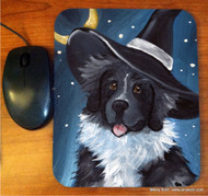 MOUSE PAD · HAPPY HALLOWEEN · LANDSEER NEWFOUNDLAND · AMY BOLIN