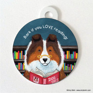 DOUBLE SIDED PET ID TAG · DOG TAILS VOL 3 · SABLE SHELTIE · AMY BOLIN