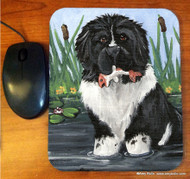 MOUSE PAD · IN MOM'S POND · LANDSEER NEWFOUNDLAND · AMY BOLIN