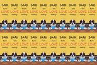 "FELT BOOKMARKS · DOG TAILS ""BARK IF YOU LOVE READING"" · SAINT BERNARD · AMY BOLIN"