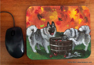 MOUSE PAD · BOBBING FOR APPLES · NORWEGIAN ELKHOUND · AMY BOLIN