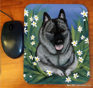 MOUSE PAD · DAISIES 1 · NORWEGIAN ELKHOUND · AMY BOLIN