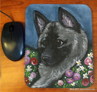 MOUSE PAD · MOM'S FAVORITE DAISY · NORWEGIAN ELKHOUND · AMY BOLIN