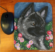 MOUSE PAD · MOM'S FAVORITE FLOWER · NORWEGIAN ELKHOUND · AMY BOLIN