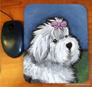 MOUSE PAD ·ALL GUSSIED UP  · OLD ENGLISH SHEEPDOG  · AMY BOLIN