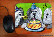 MOUSE PAD · HAPPY BIRTHDAY TO YOU · OLD ENGLISH SHEEPDOG  · AMY BOLIN