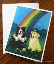 NOTE CARDS · MY POT O' GOLD · BERNESE MOUNTAIN DOG & GOLDEN RETRIEVER · AMY BOLIN