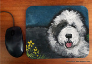 MOUSE PAD · TOBY  · OLD ENGLISH SHEEPDOG  · AMY BOLIN