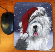 MOUSE PAD · SHAGGY CLAWS  · OLD ENGLISH SHEEPDOG  · AMY BOLIN