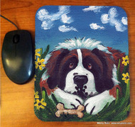 MOUSE PAD · DOGGIE DAYDREAMS · SAINT BERNARD · AMY BOLIN