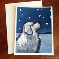 NOTE CARDS · COUNTING SNOWFLAKES · GREAT PYRENEES · AMY BOLIN