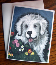 NOTE CARDS · MOM'S FAVORITE FLOWER · GREAT PYRENEES · AMY BOLIN
