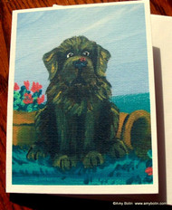 NOTE CARDS · A LITTLE VISITOR · BROWN NEWFOUNDLAND · AMY BOLIN