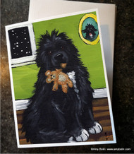 NOTE CARDS · BEDTIME BUDDIES · IRISH SPOTTED NEWFOUNDLAND · AMY BOLIN