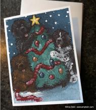 NOTE CARDS · CHRISTMAS TOGETHER · BLACK, BROWN, LANDSEER NEWFOUNDLAND · AMY BOLIN