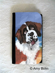 LARGE ORGANIZER WALLET · A DAY AT THE AT THE BEACH · SAINT BERNARD · AMY BOLIN