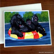 NOTE CARDS · DOG DAYS · BLACK NEWFOUNDLAND · AMY BOLIN
