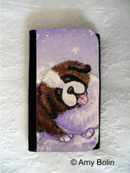 LARGE ORGANIZER WALLET · A TASTE OF WINTER · SAINT BERNARD · AMY BOLIN